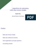 Multi-view mixture models
