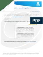 Clasificacion de Los Datos Primarios y Secundarios