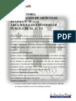 1ª Convocatoria Publicación Revista Area Social-1
