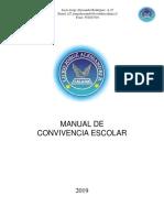 Manual de Convivencia Escolar - 2019