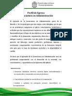 Perfil de Egreso Lic. Administracion