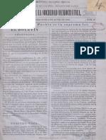 Boletin de La Sociedad Democrática 1867