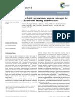 Microfluidic Generation of Alginate Microgels