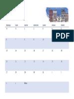 Calendario de Cualquier Año Ilustrado Con Imágenes Estacionales1