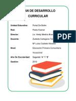 Plan de Desarrollo Curricular Caratula