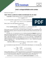 EXP1 - Potência de Um Sinal e Ortogonalidade - Material de Apoio