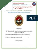 ENSAYO-Evaluación de Formaciones y Caracterización de Yacimientos