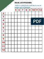 Tabelul Lui Pitagora