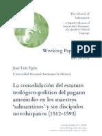 Eguío_La Consolidación Del Estatuto Teológico-político Del Pagano Amerindio