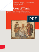 (Journal of Ancient Judaism Supplements 22) Michal Bar-Asher Siegal (Editor), Tzvi Novick (Editor), Christine Hayes (Editor) - The Faces of Torah_ Studies in the Texts and Contexts of Ancient Judaism