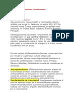Renacentista y Emperismo y Asocioniosmo.docx Panel de Psicologia