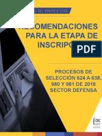 INSCRIPCION PROCESOS DE SELECCION SECTOR DEFENSA