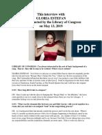 Gloria Estefan Interview