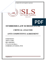 Critical Analysis of Anti-Competitive Agreement