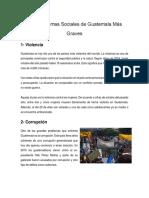 Los Problemas Sociales de Guatemala Más Graves