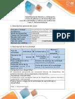 Guía de Actividades y Rúbrica de Evaluación - Fase 1. Reconocimiento