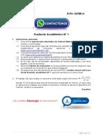 CALCULO  DIFERENCIAL Producto Académico N°1