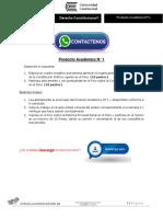 Derecho Constitucional I Producto Académico N°1