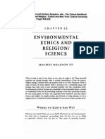Environmental Ethics and Religion/Science
