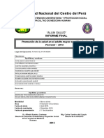 informe de proyeccion fiee uncp