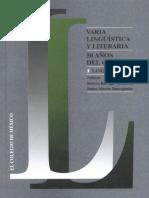 Varia Lingüística y Literaria 50 Años Del CEL I. Lingüística