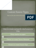 Custom Source Types in The Master Genealogist