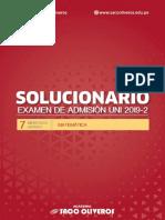 Solucionario Uni 2019-2 Miercoles