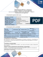 Guía de Actividades y Rúbrica de Evaluación - Tarea 1 - Fundamentos de Ingeniería