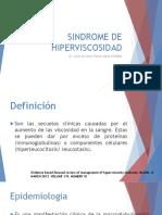 Sindrome de Hiperviscosidad
