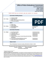 Office of Police Ombuds Commission - Agenda Special 2019-08-13