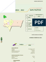 Anuario estadístico Tarija 2012