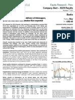 Company Alert IFS 3Q18 Results Credicorp Capital Sebastian Gallego