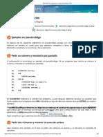 Ejemplos de Algoritmos en Pseudocódigo (1-6)