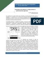 Ã_mbito de recomendación de aditivos o coadyuvantes en pulverizaciones agrÃ_colas (2013)