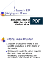 Chap.5 Language Issues in ESP(Hedging and Move))