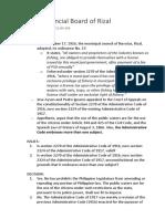 Ayson v. Provincial Board of Rizal