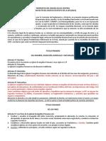 Propuesta de Modificacion de Estatuto Selva Central Iep 2019