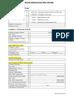 Formulir Pengajuan STR ONLINE Des 17