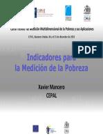 indicadores de medicion de la pobreza