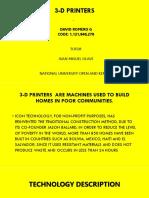 3 D Printers
