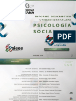 Informe Descriptivo de La Psicologia Social - Iztapala