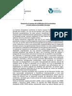 CIN Declaración Amazonia y La Quema de La Biblioteca de La Naturaleza