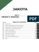 2011 Dakota Owners Manual