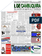 Edição 611 Do ENCONTRO - O Jornal de Cambuquira - 04 de Julho a 02 de Agosto de 2019