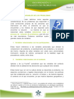 variables proyectos