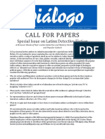 Call for Papers - Latinx Detective Fiction - Center for Latino Research - De Paul University