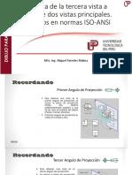 Practica de La Tercera Vista a Partir de Dos Vistas Principales. Ejercicios en Normas ISO-ANSI