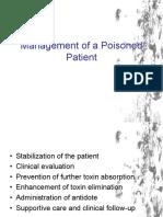 Management of a Poisoned Patient