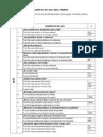 Diagnostico Del Aula Primaria (3b