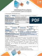 Guía Actividades y Rúbrica Evaluación Tarea 5 Desarrollar Evaluación Nacional